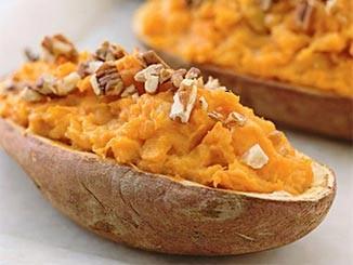 طريقة عمل وتحضير بيوريه البطاطا الحلوة