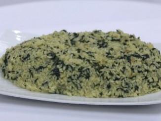 طريقة عمل وتحضير الأرز بالسبانخ